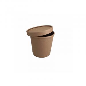 Leveses tányér fedél 450 ml, kraft (25 db/csomag)