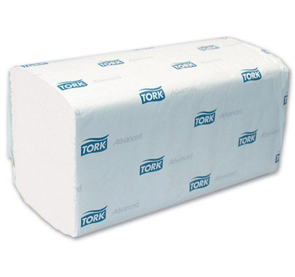 Papírtörlő Z-Z hajtogatású 2 rétegű 250l/csomag TORK ADVANCED H3 fehér (290163)