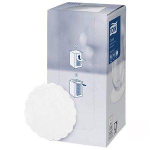 Papír szalvéta alátét d= 9cm 250db/csomag TORK Advanced fehér (474474)