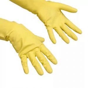 Gumikesztyű Vileda Contract sárga L (101018/100540)