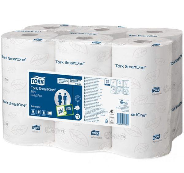 WC-papír 2 rétegű 111m/tekercs TORK Advanced SmartOne Mini (472193)