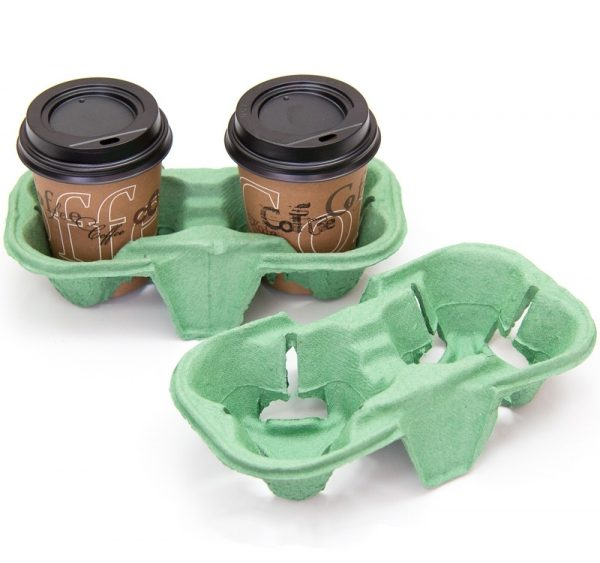 2 db-os pohártartó 193х108х42mm zöld (110 db/csomag)