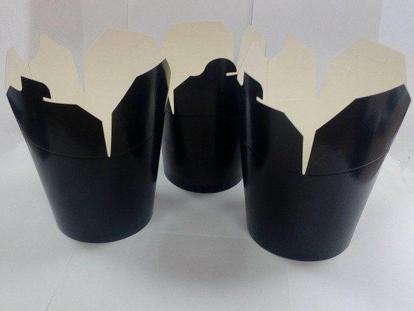Papírdoboz PKR 138х94х98;4mm 700ml fekete, kerek alj (450 db/csomag)