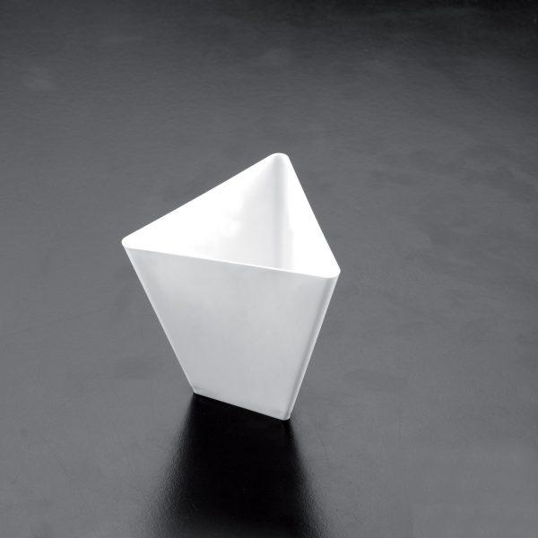 "Kehely Gold Plast ""triangle"" 90ml, fehér (25 db/csomag)"