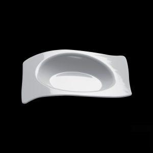 Csészealj forma, 15 ml, fehér PS Gold plast (50 db/csomag)