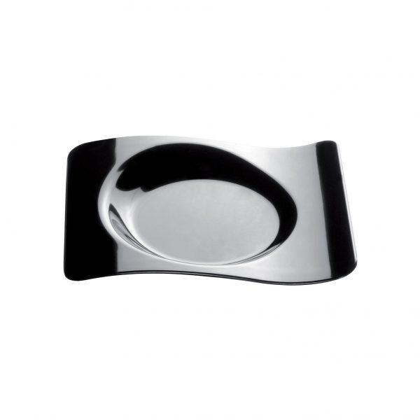 Csészealj forma, 10 ml, fekete PS, Gold plast (50 db/csomag)