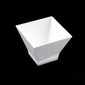 Pagoda sütőforma, 65 ml, fehér PS, Gold plast (25 db/csomag)