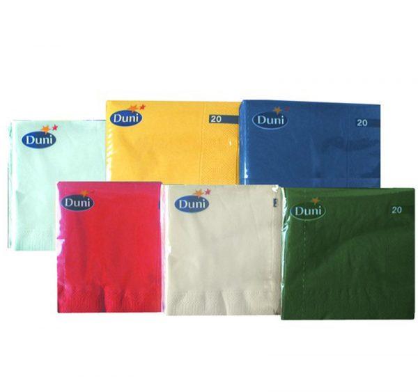 DUNI Papír szalvéta 3 rétegű 24х24cm 250 l/csomag fehér