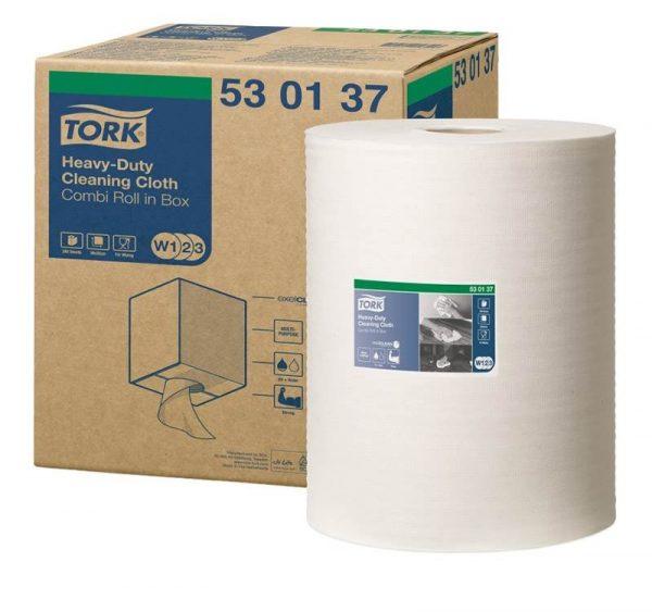 Nem szőtt tisztítószerek Tork W3 szupererős fehér kombi-tekercs (530137)