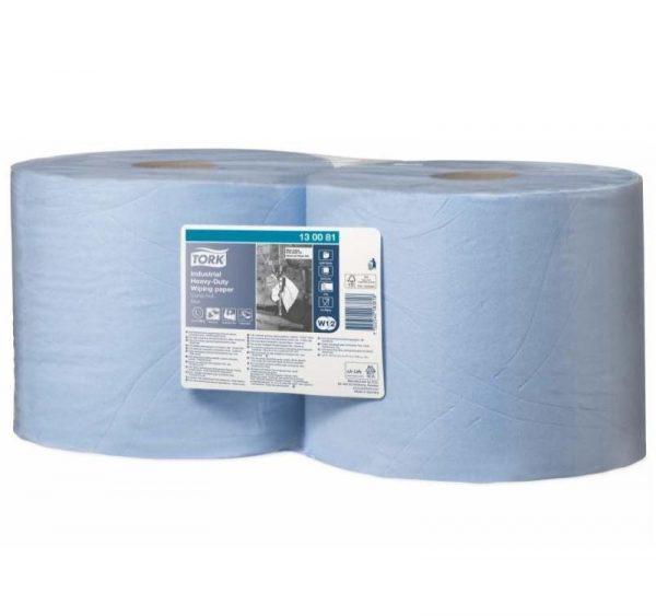 Papírtörlő Tork W1/W2 szuper tartós tekercs, kék (130081)