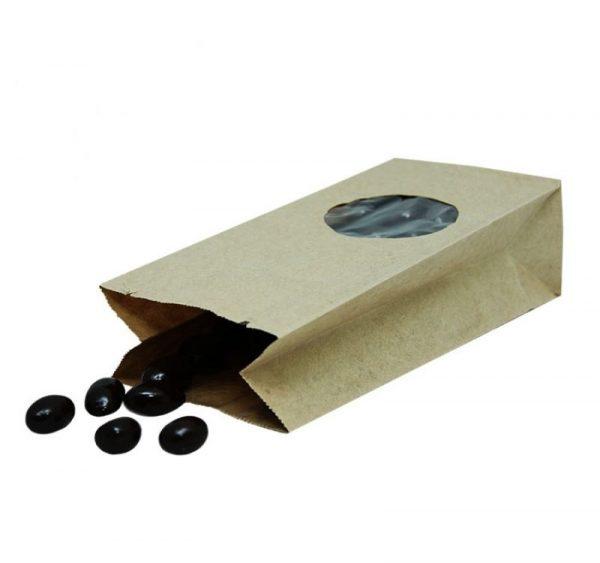 Papírzacskó kraft téglalap alakú alj 170х80х50 kör alakú ablakkal 5 (600 db/csomag)
