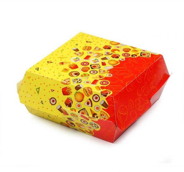 """Hamburgeres doboz """"Bőségszaru"""" 120х120х70mm (50 db/csomag)"""