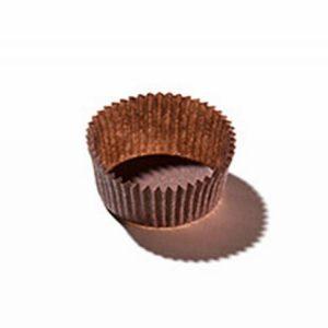 Kerek muffin sütőpapír d=35mm, h=20mm, barna (100 db/csomag)