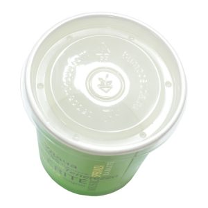 Papírdoboz műanyag fedél PP d=90mm 300 ml (500 db/csomag)