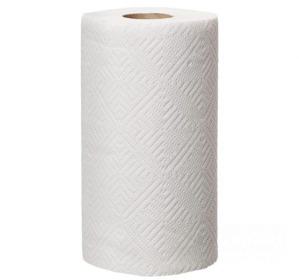 Papírtörölköző 2 rétegű 4 tekercs/csomag TORK fehér konyhai használatra dombornyomott (473498/32032)