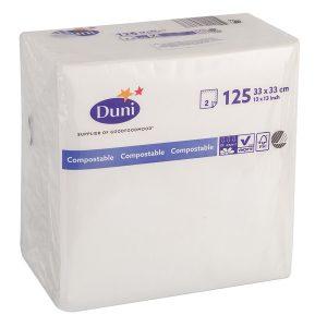 Papír szalvéta 2 rétegű 33х33 125l/csomag DUNI fehér
