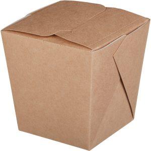 Papírdoboz ECO NOODLES 560 ml 90х90х100mm, téglalap alakú alj, kraft (35 db/csomag)