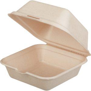 Ebédes doboz TF Tambien ECO 156х158х88mm hamburgerhez, kraft  (50 db/csomag)