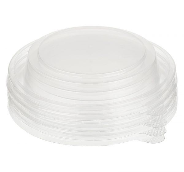 Papírdoboz műanyag fedél PP TaMbien d=110mm 380/520 ml, kúp alakú (50 db/csomag)