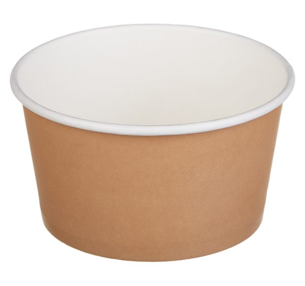 Papírdoboz Tambien ECO 380 ml d=110mm, h=60mm kraft (50 db/csomag)