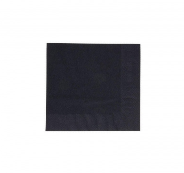 Papír szalvéta 2 rétegű 33х33 125l/csomag DUNI fekete (151803)/Paper napkins 2-layer 33*33; 125sh/pack DUNI, black