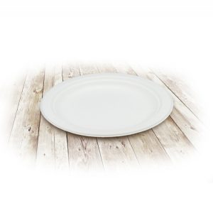 Tányér TF ECO d-180mm, fehér/Sugar cane plate d-180mm, white (50 db/csomag)
