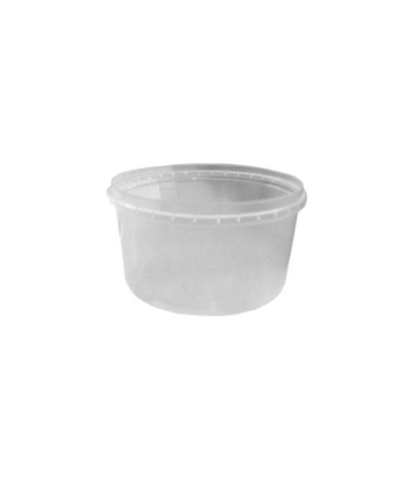 PP élelmiszer tároló doboz 250ml d=96 h=56 (50 db/csomag)