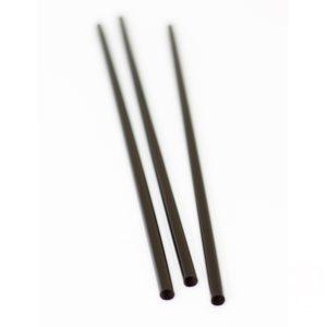 Koktél szívószál egyenes d=8mm l=240mm fekete (135db/csomag)