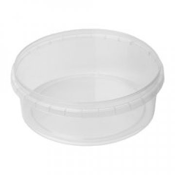 Élelmiszer tároló doboz PP 150ml d=96mm h=30mm (50 db/csomag)