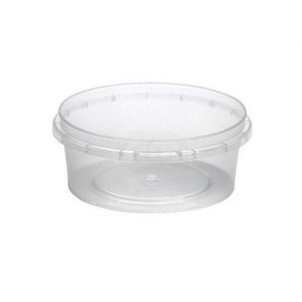 Élelmiszer tároló doboz PP 125ml d=93mm h=32mm (70 db/csomag)