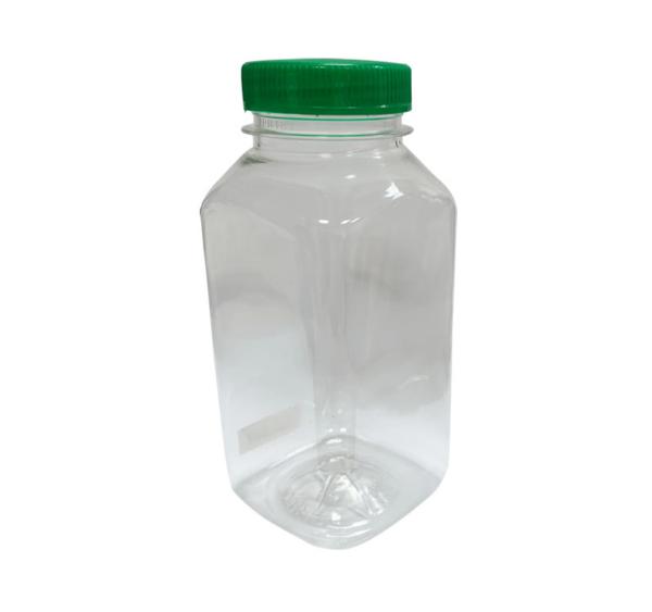Műanyag üveg fedéllel 0;25l d-38mm kockás (300 db/csomag)