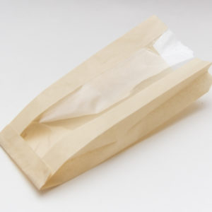 Papirna vrećica sa prozorom 170 (110) x 80 x 200 mm smeđa