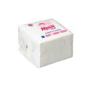 Papír szalvéta 1 rétegű 24х24 100l/csomag NEGA fehér