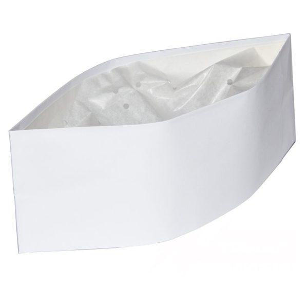 ToMoS papír nyári sapka, fehér 100 db/csomag