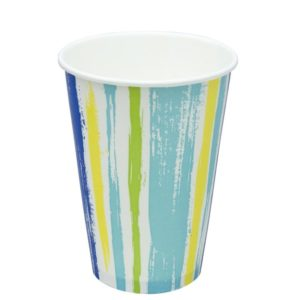 Papírpohár 1 rétegű, csíkos, hideg italokhoz 300 (50 db/csomag)