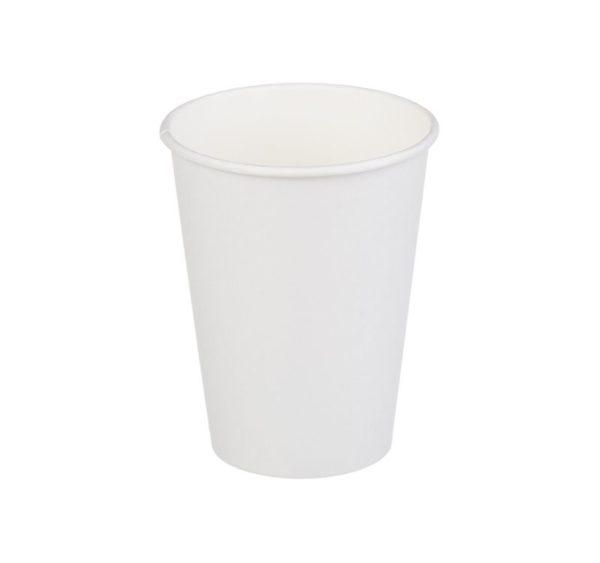 Papírpohár 1 rétegű, fehér, forró italokhoz 350 (50 db/csomag)
