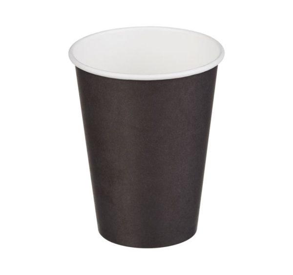 Papírpohár 1 rétegű, fekete, forró italokhoz 370 (50 db/csomag)