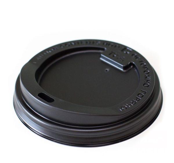 PS fedél oldalsó nyílással, fekete d=80 mm (100 db/csomag)