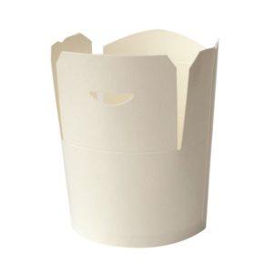 Papír konténer fehér, 750 ml d=92 mm, h=100 mm (50 db/csomag)