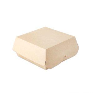 ECOline hamburgeres doboz, belső laminálás, kraft 120x120x70 mm (300 db/csomag)
