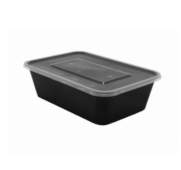 Üveg PP TaMbien 170x115x50mm 650ml fekete (300 db/csomag)