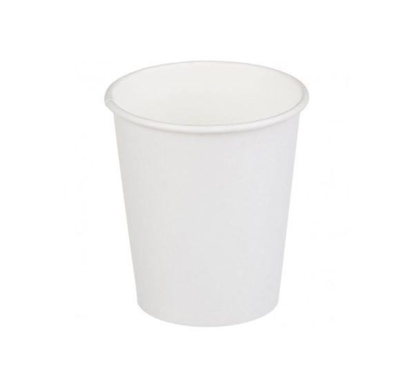 Papírpohár 1 rétegű, fehér, forró italokhoz 250 (50 db/csomag)