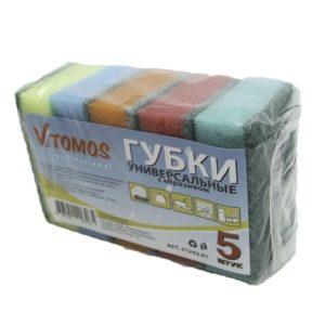 ToMoS szivacs dörzsölővel 79х50х26 mm 5 db/csomag