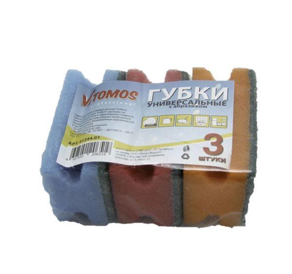 ToMoS profil szivacs dörzsölővel 85х64х42 mm 3 db/csomag