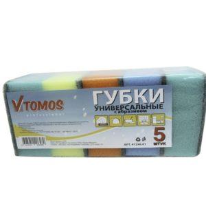ToMoS szivacs dörzsölővel 85х64х41 mm 5 db/csomag