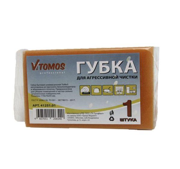 ToMoS szivacs agresszív tisztításhoz 116х76х43 mm 1 db/csomag