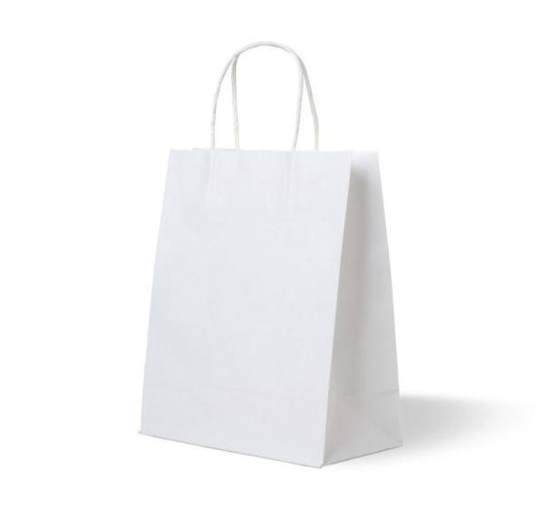 Papírzacskó fehér 320х180х370 mm, csavart fogantyúval (250 db/csomag)