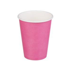 Papírpohár 1 rétegű, rózsaszín, forró italokhoz 300 (50 db/csomag)