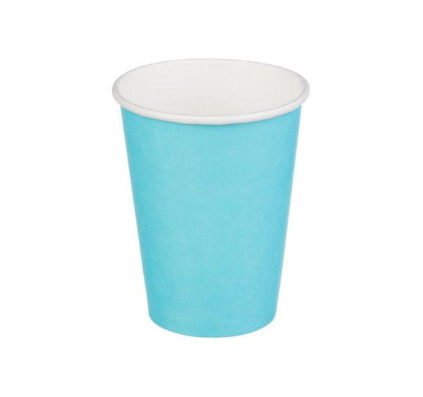 Papírpohár 1 rétegű, türkiz szín, forró italokhoz 300 (50 db/csomag)
