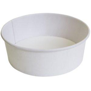 Papír konténer fehér, 750 ml d=150 mm, h=67;5 mm (300 db/csomag)